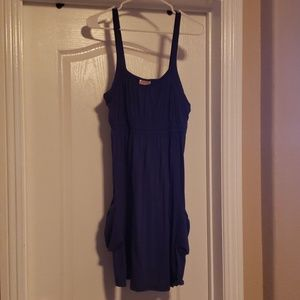 Blue Women's Sleeveless Tank Dress
